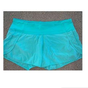 Lululemon sz 8 Run times shorts menthol green